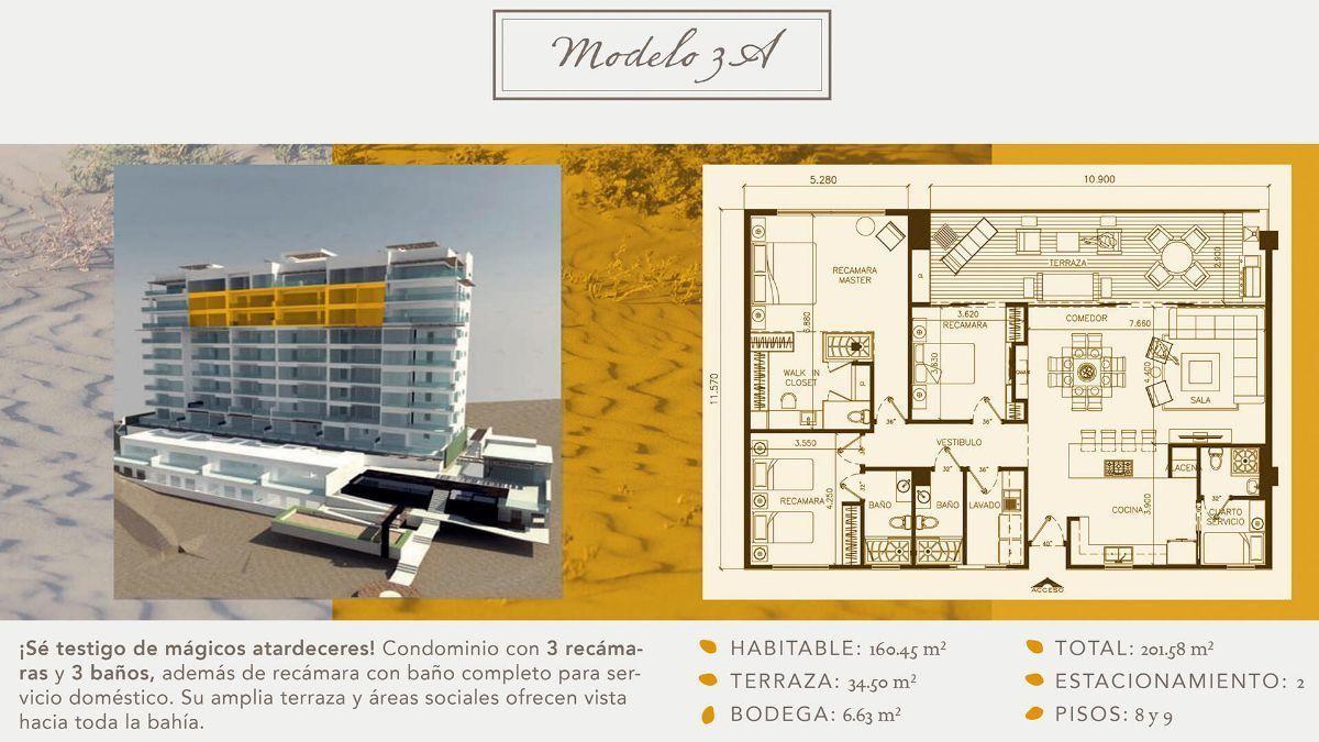 8 de 16: Departamentos en Venta en Torre Marea PMR-406