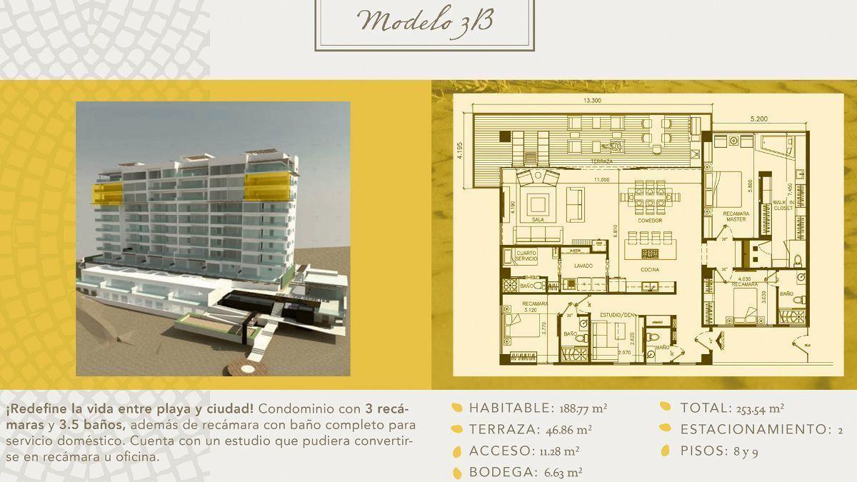 9 de 16: Departamentos en Venta en Torre Marea PMR-406