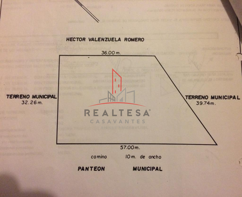 2 de 3: plano del  terreno pegado a la calle