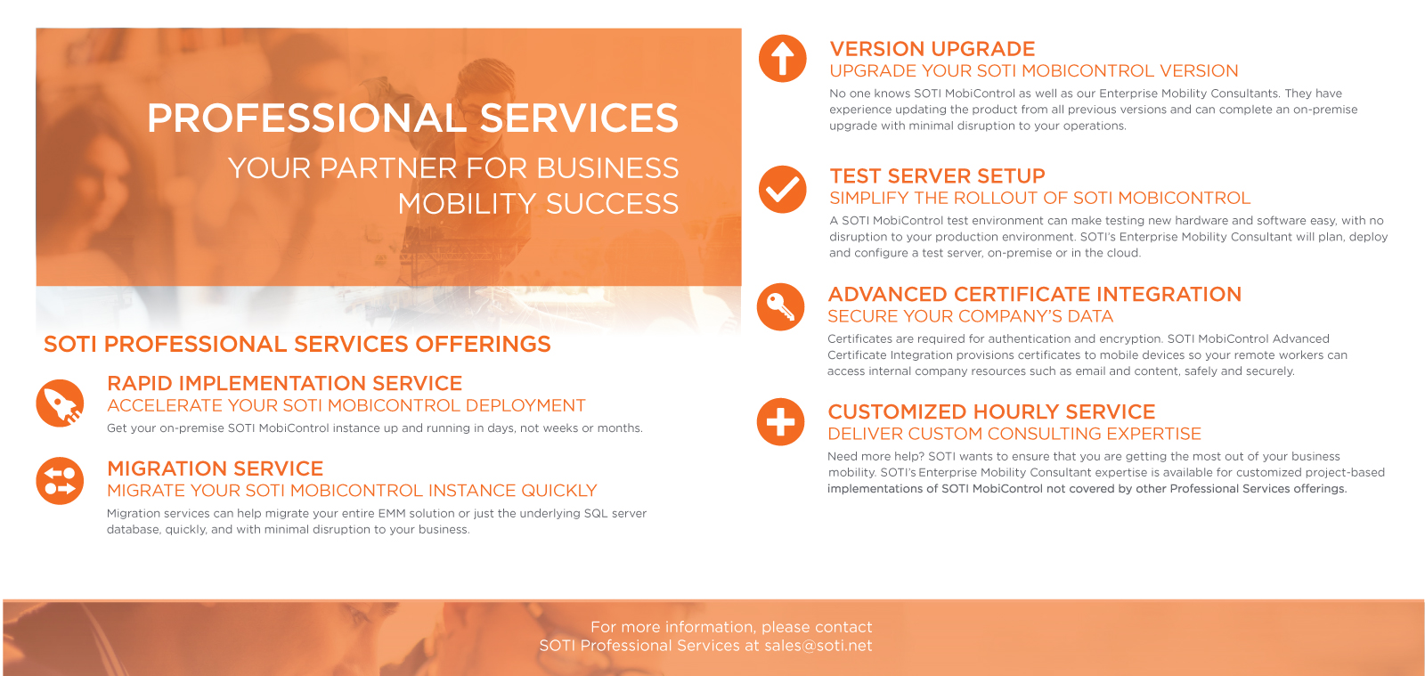 SOTI Professional Services - Professional Services | SOTI