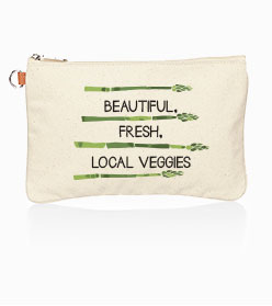 Statement Canvas Zip-Touch Pouch
