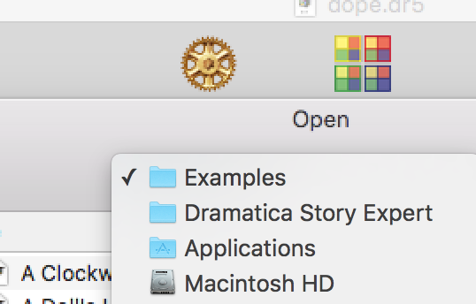 Location of the Dramatica Examples folder