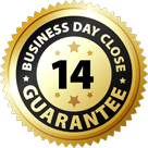 14 Business Day Close Guarantee Badge