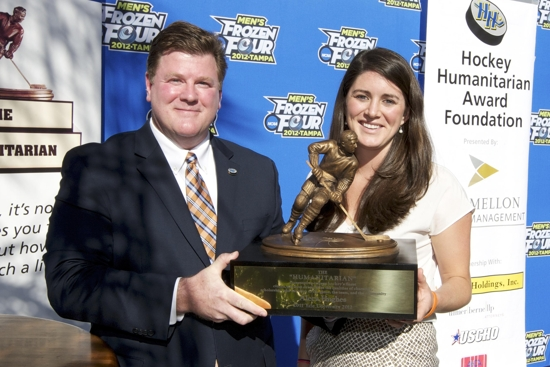 Aleca Hughes - 2012 BNY Mellon Hockey Humanitarian Recipient