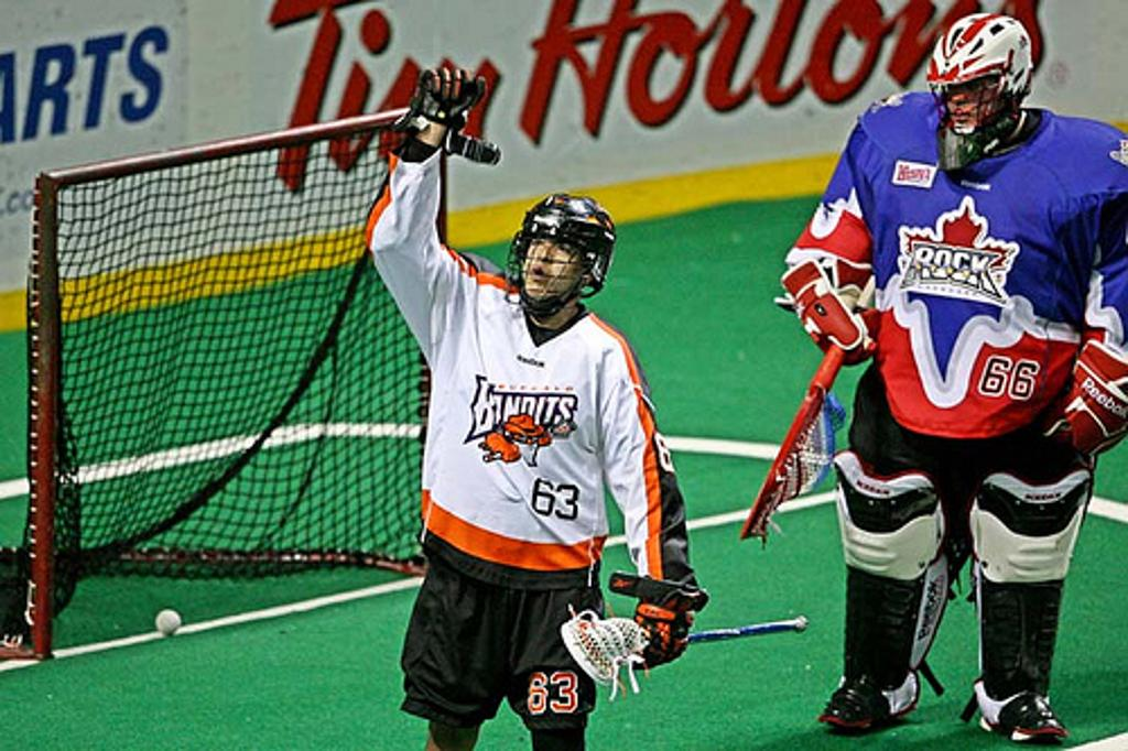 Tom Montour signed a one year deal with the Rochester Knighthawks for the 2013 season. Photo Credit: Larry Palumbo