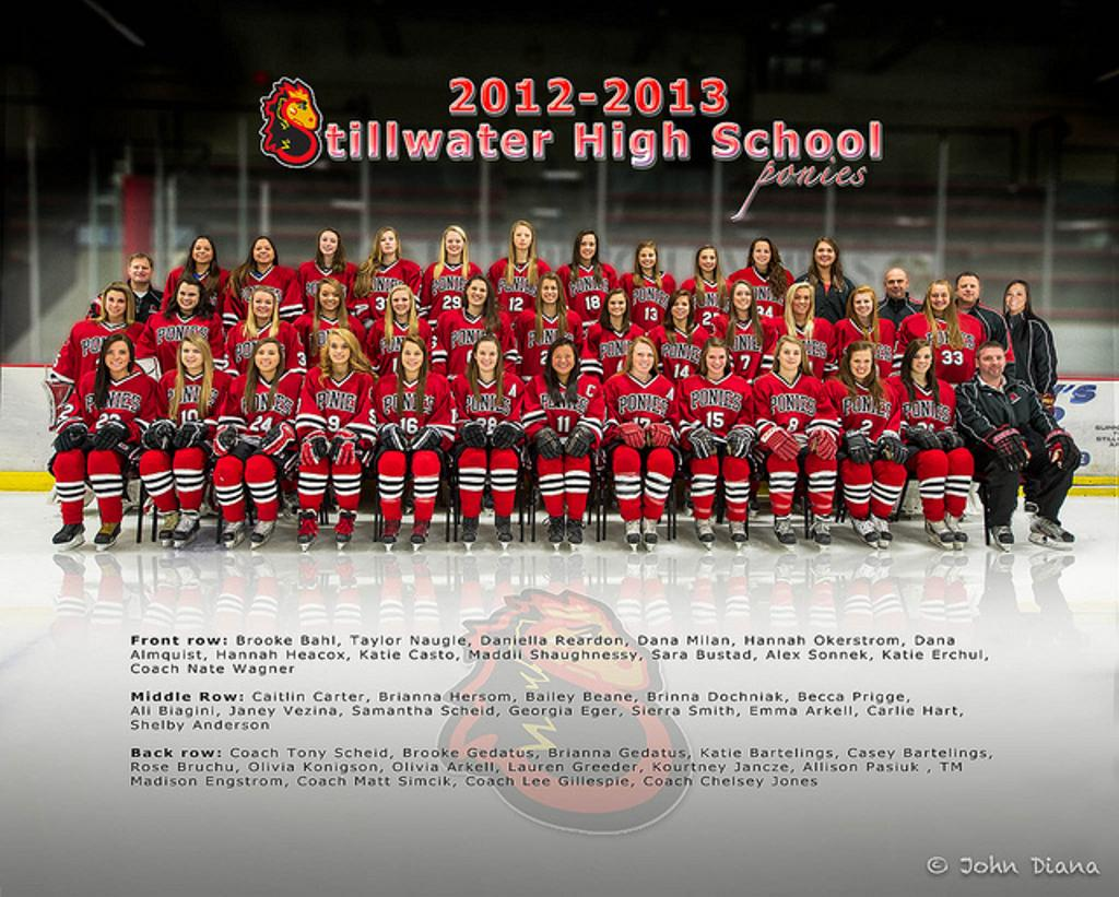 2012-2013 Stillwater girl's hockey team