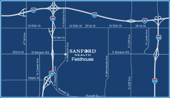 Sanford FIELDHOUSE map