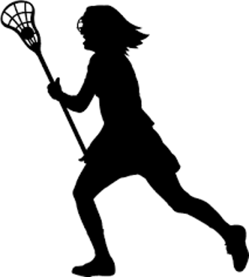 Girls Lax Silhouette Left Facing