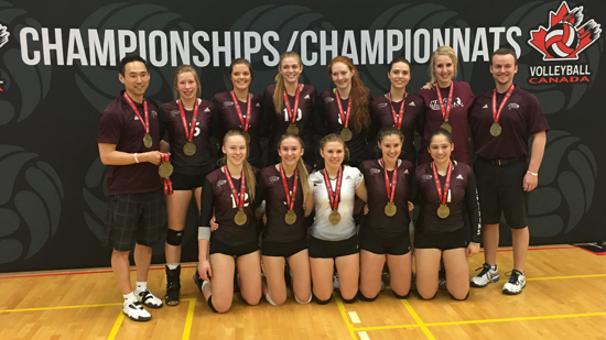 2016 U17 Women Canadian National Championships Gold Medal in Division 1, Tier 4