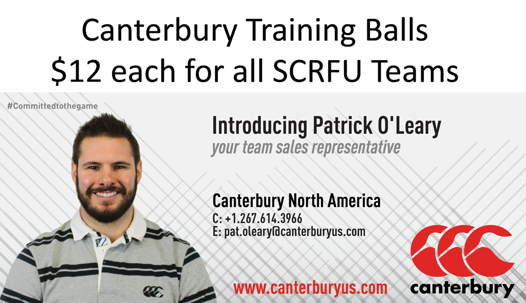 SCRFU Training Ball Order