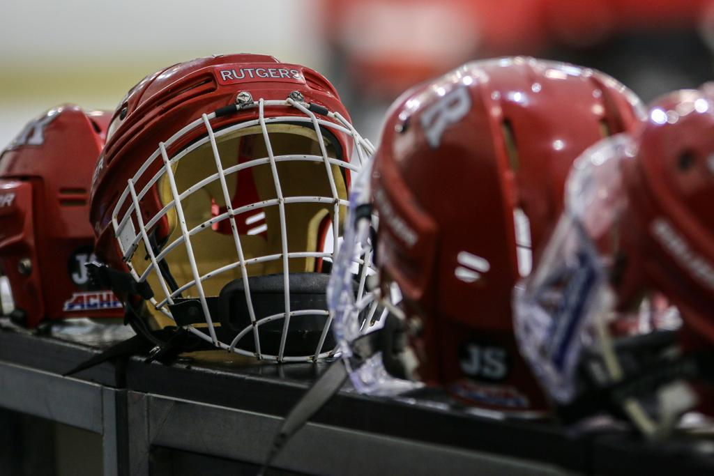 Rutgers Hockey Helmet