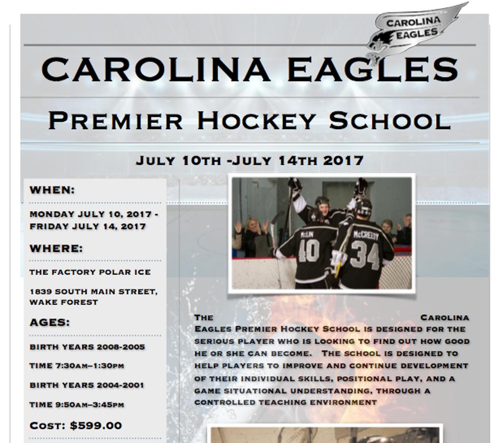 Carolina Eagles Premier Hockey School
