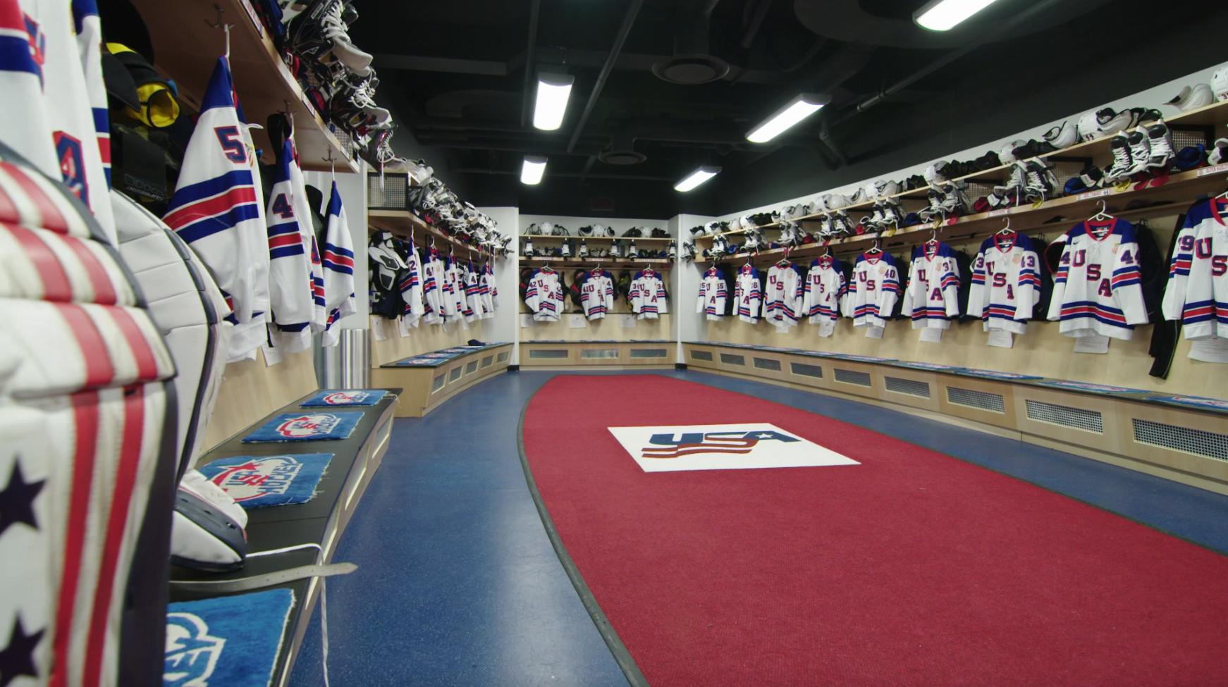 USA Hockey Arena Team Locker Room