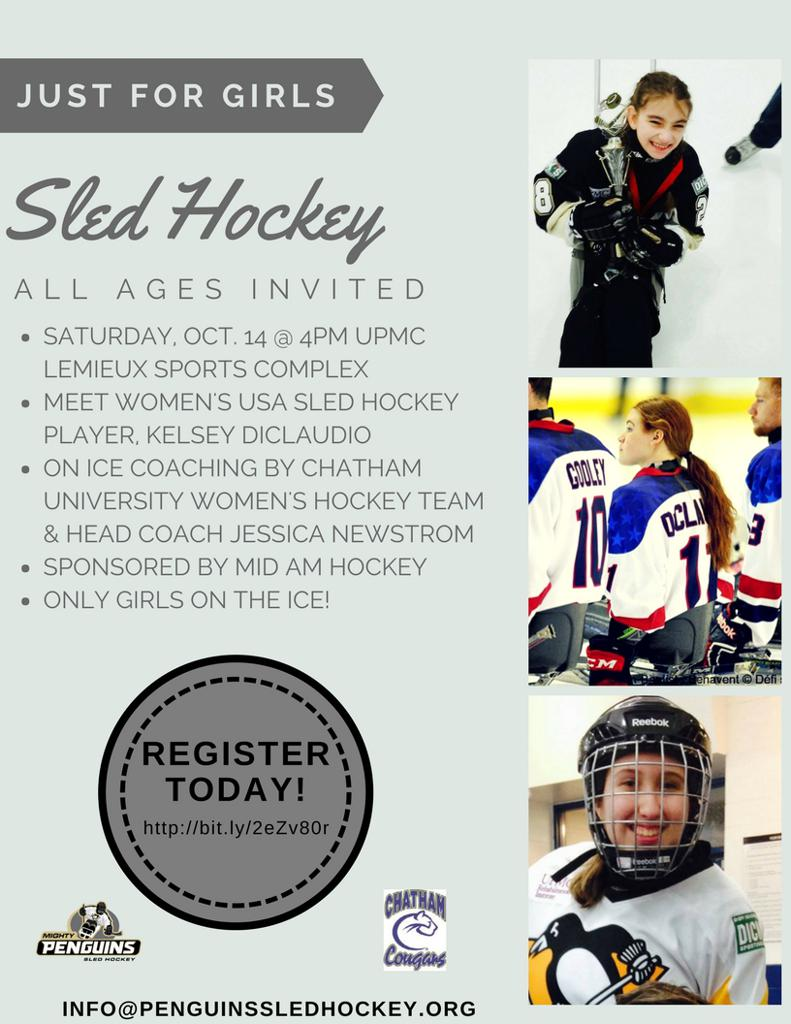 Girls Take Over The Ice Night @ UPMC Lemieux Sports Complex, USA