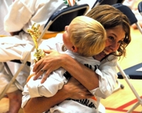 Mother and Child at Taekwondo competition