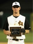 Hammerman with All-Star Game MVP plaque
