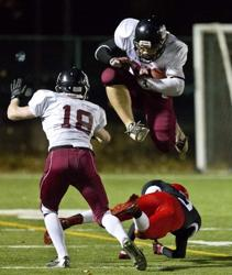 Jackson Ryan hurdles defender in 2013 Div I Playoffs