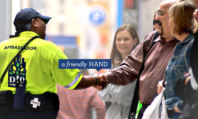 Minneapolis Downtown Improvement District A friendly hand