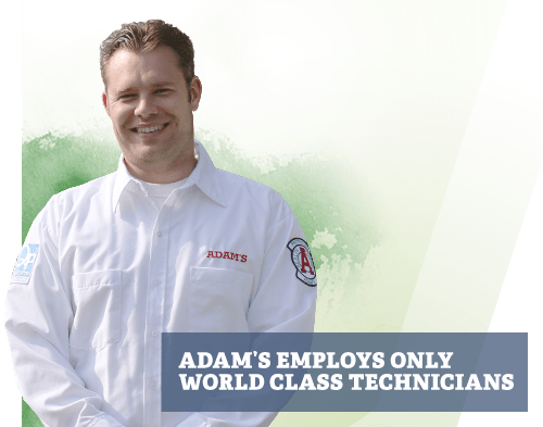 Adam's Employs Only World Class Technicians
