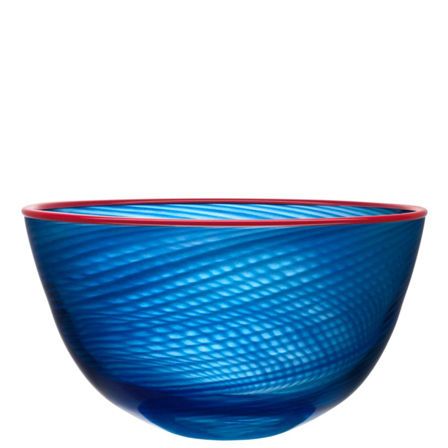 kosta boda decorative red rim bowl  orrefors us - kosta boda decorative red rim bowl