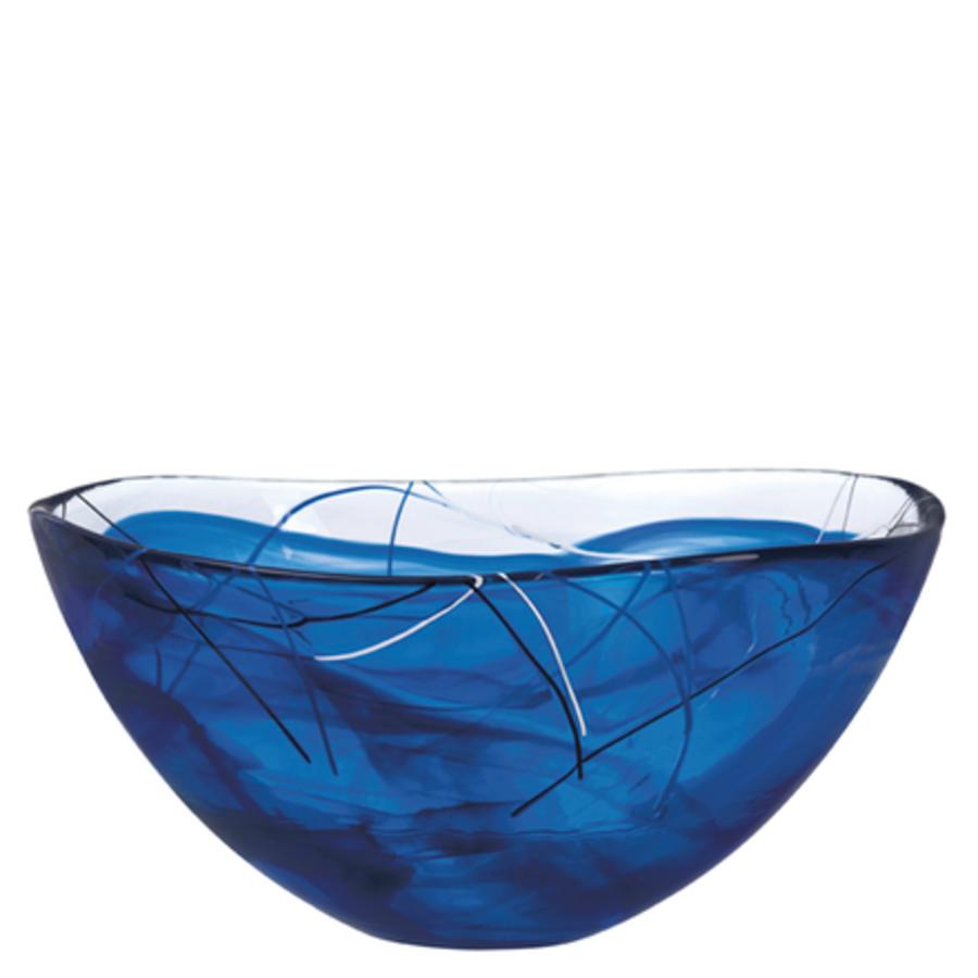 kosta boda serveware contrast bowl blue  orrefors us - kosta boda serveware contrast bowl blue