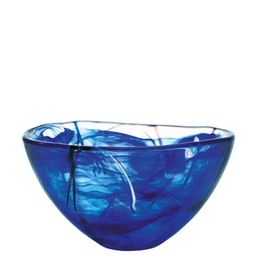 kosta boda serveware contrast blue bowl  orrefors us - kosta boda serveware contrast blue bowl
