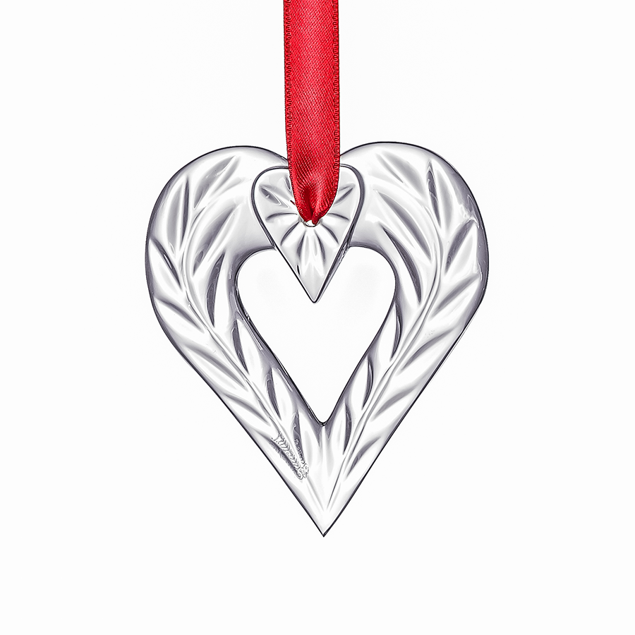 ornaments holiday heart ornament orrefors us