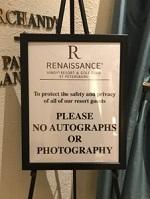 Renaissance No Autographs or Photography