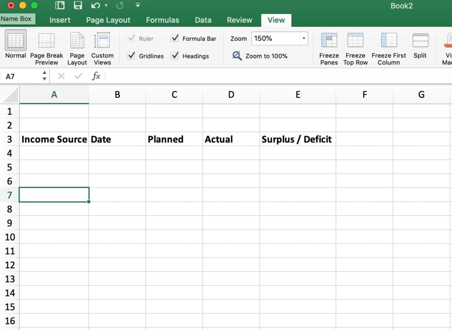 A new Excel budget made from scratch with five column headers | Investment U