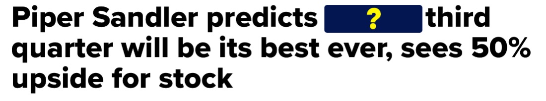 Piper Sandler Predicts