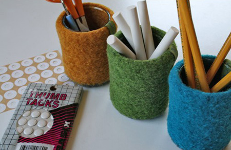 mini bud vases, felted, from papaververt