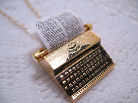 typewriter necklace, by cuteability