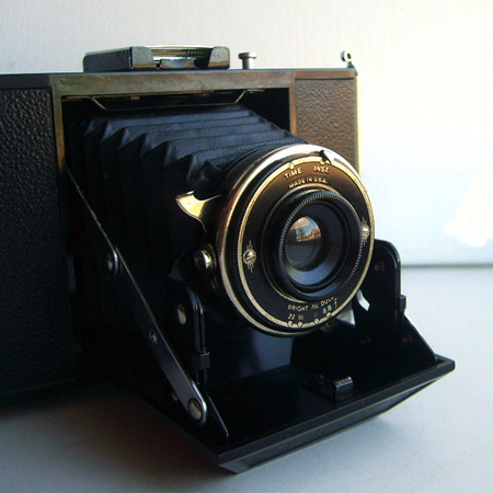 antique folding art deco camera, by sweet love vintage