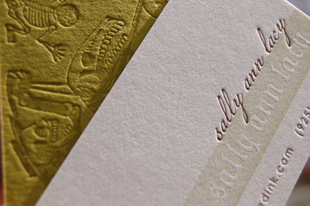 custom business cards, letterpress, by invited ink