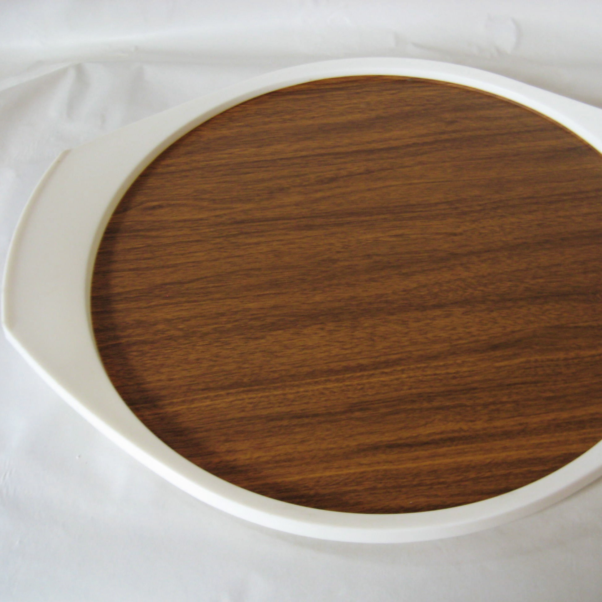 faux bois platter