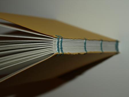 yellow hand bound book by sfeinstein