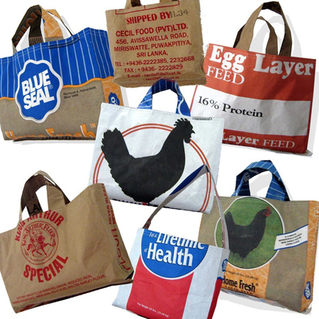 Wholesale grain bag totes by one woman studio