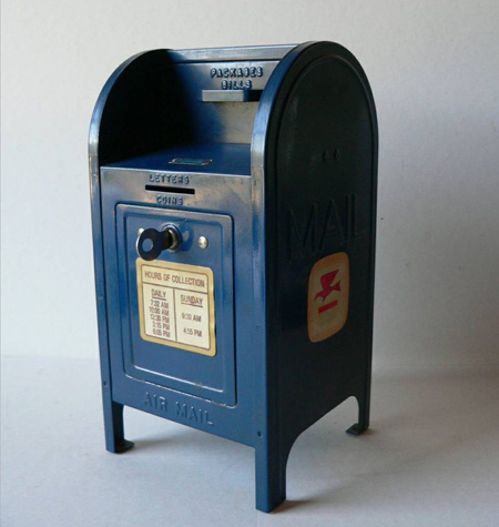 vintage toy mailbox from multer