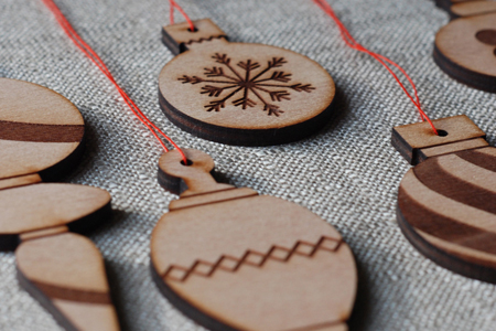 wood ornaments by sub-studio