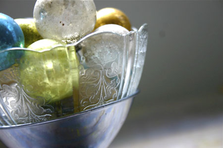 vintage etched and pressed glass compote by trampoline