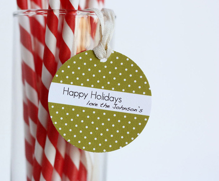 mini polka dot holiday gift tags by perideau designs