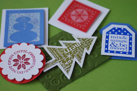 glitter assortment of christmas tags from made by jackie