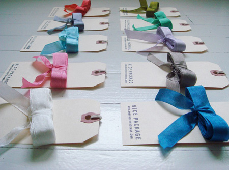 luxe vintage inspired ribbon by nice package