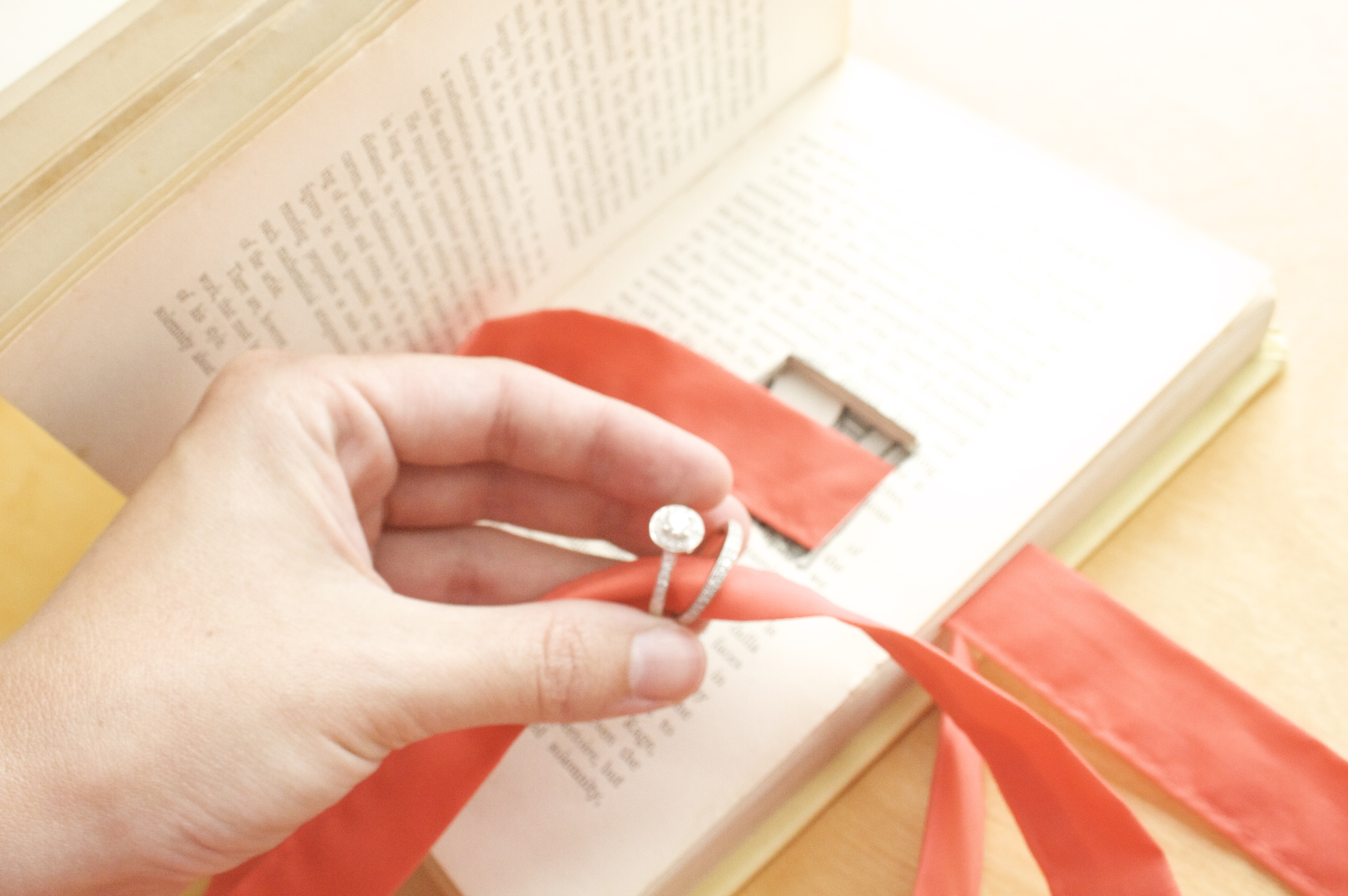 Tutorial Vintage Book Wedding Ring Holder Paper and Stitch