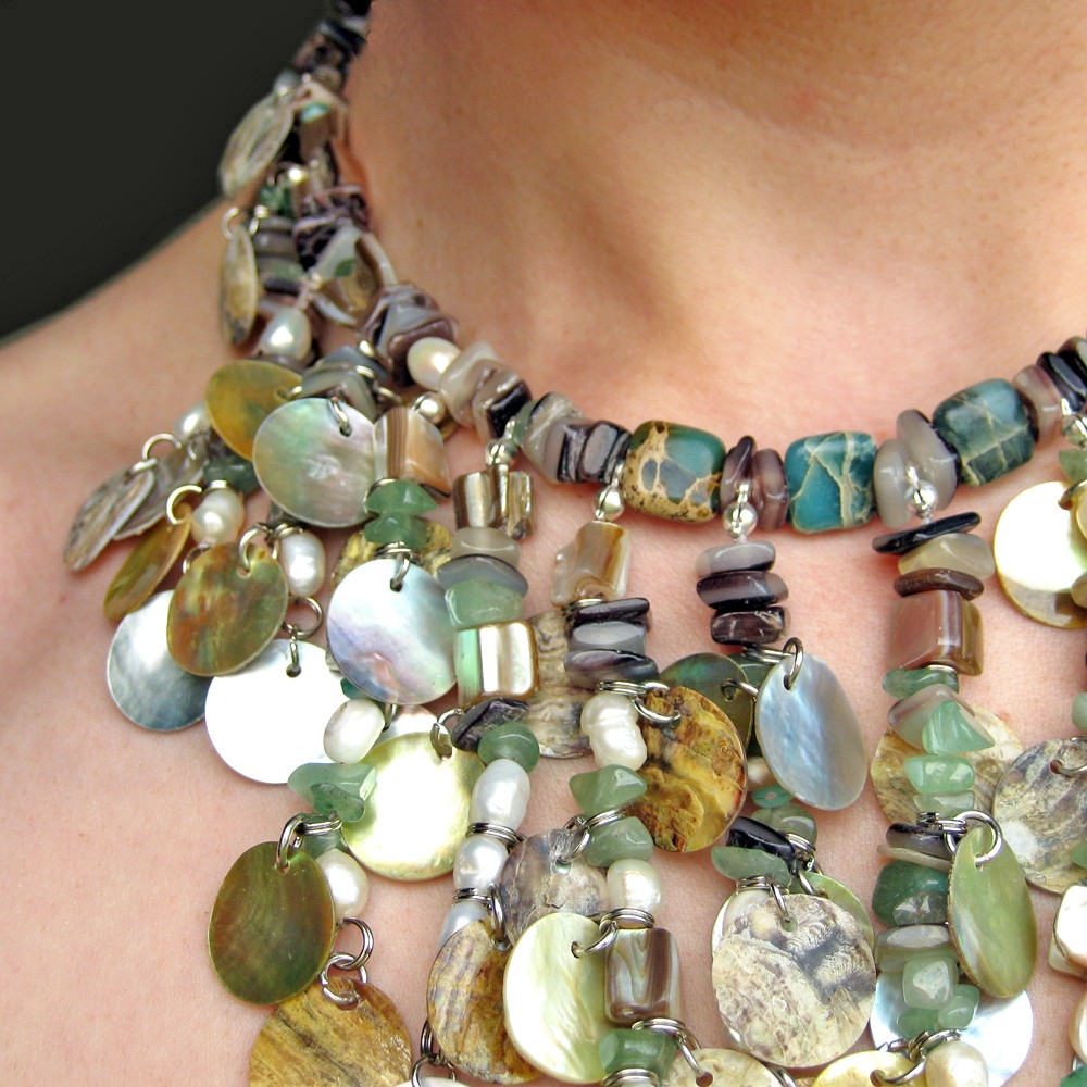 Falling water necklace beading tutorial paper and stitch this week baditri Choice Image