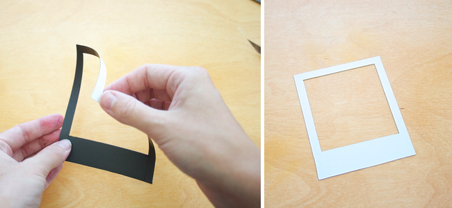 Tutorial: How to make a Polaroid Magnet Frame - Paper and Stitch