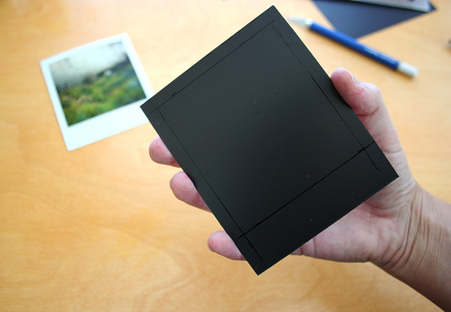 tutorial how to make a polaroid magnet frame paper and stitch
