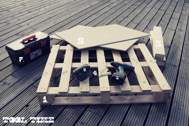Tutorial How to Make a Modern Coffee Table with a Wood Pallet