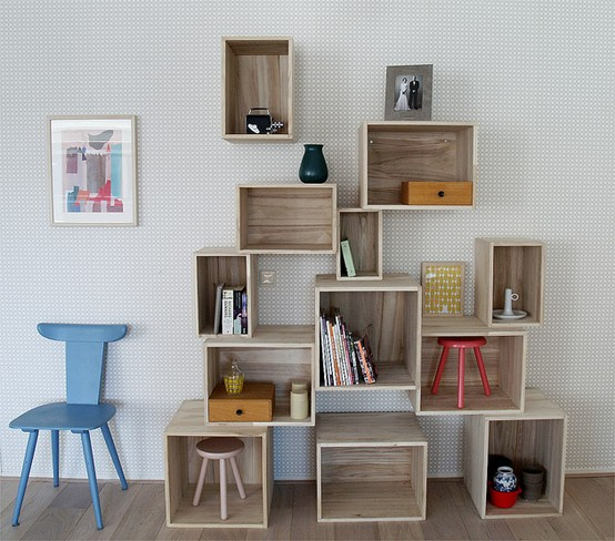 Home decorating pictures diy bookshelf ideas - Cajones de madera ikea ...