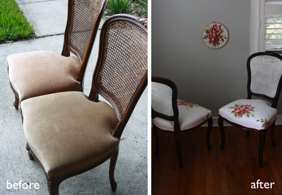 Before After French Flair Chairs